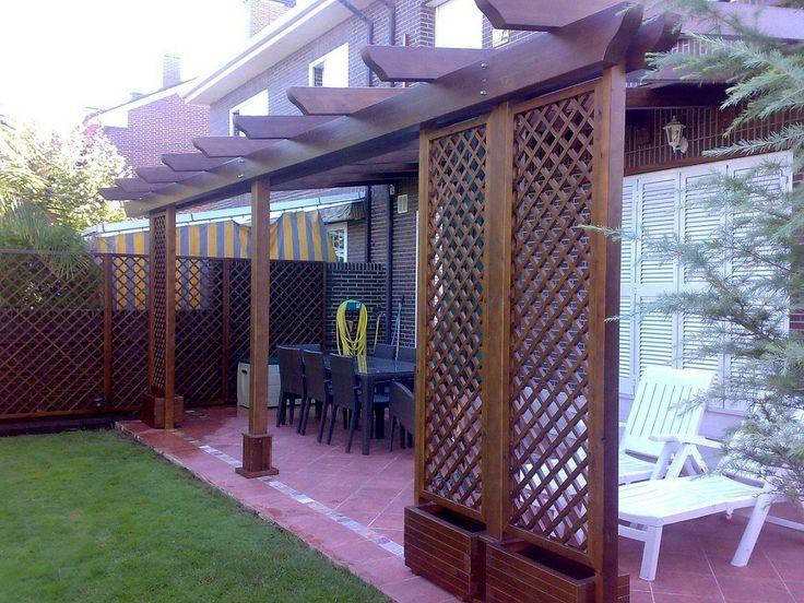 Pergolas pergojardin decoracion exterior de madera - Decoracion de patios y jardines ...