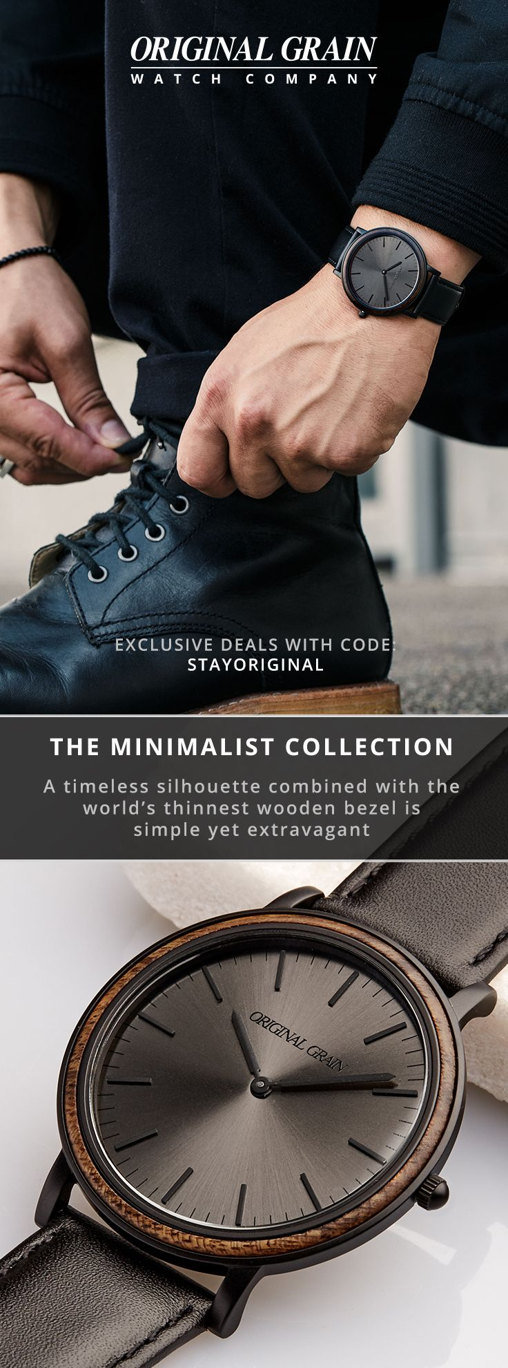 Timeless design and precision craftsmanship built for the modern gentleman. The Minimalist Collection provides everything you need, and nothing that you don't, featuring an ultra-sleek 40mm case.