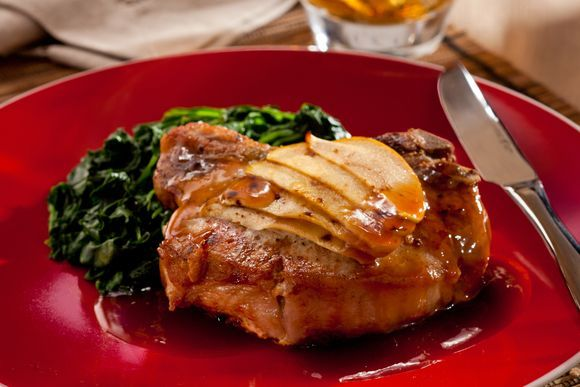 Pork Chops with Apple, Onion & Sage