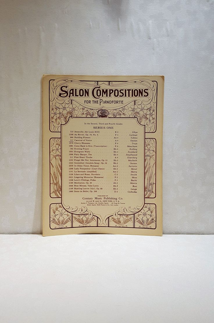 Salon Compositions, Pianoforte, Le Carneval De Venise, Carnival Of Venice, Oesten, Century Music Publishing, Music Sheets, Piano Music by Donellensvintage on Etsy