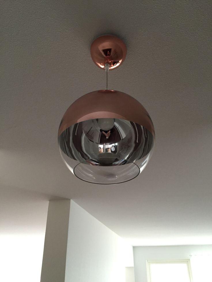 Copper, lamp, ceiling, ceilimg lamp, glass, design, ANETA, interior,