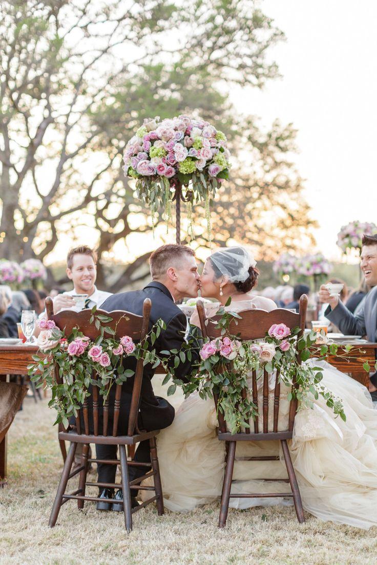 #chair-decor, #chair Photography: Koby & Terilyn Brown - archetypestudioinc.com Read More: http://www.stylemepretty.com/2014/12/01/romantic-ranch-wedding-in-kendalia/