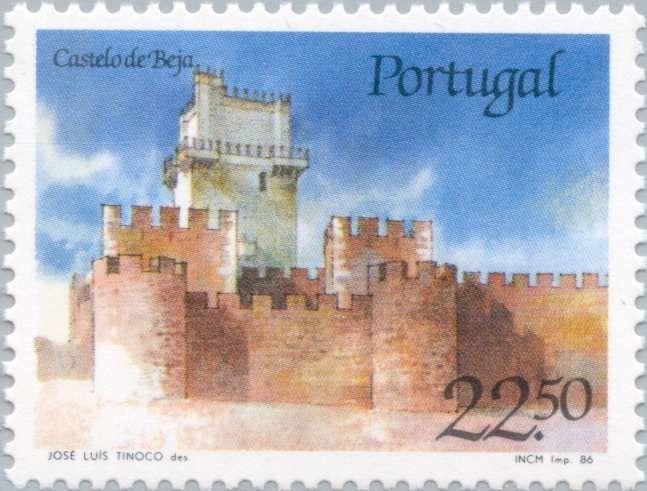 Sello: Castle of Beja (Portugal) (Castles and Coat of arms of Portugal (1st group)) Mi:PT 1681,Sn:PT 1663,Afi:PT 1751