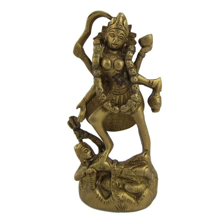 Amazon.com: Goddess Kali Metal Brass Sculpture 2 X 2 X 4.5 Inches: Home & Kitchen