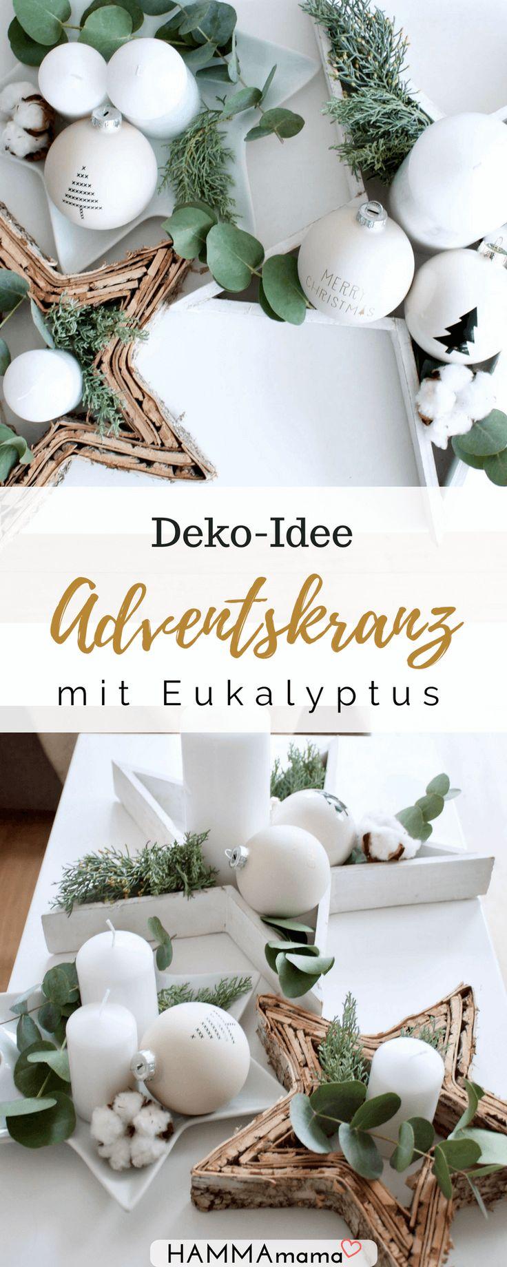 Außergewöhnliche Adventskränze Sind Dein Ding? ° Idee Für Eine Adventskranz  Deko Mit Eukalyptus