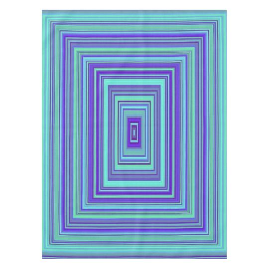 Rectangles Green Turquoise Purple Blue Art Tablecloth