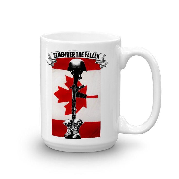 Remember the Fallen Canadian Mug