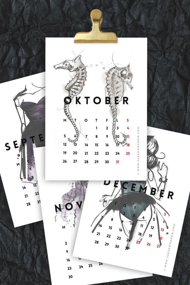 FOR YOU ♡ Free printable mini calendar • 2015