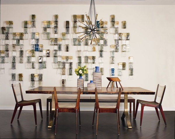 mid-century modern dining room with modern decor