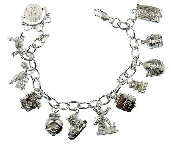 "Bedel armband - ""Charm bracelet"", I wore my only on special occasions...all silver..."