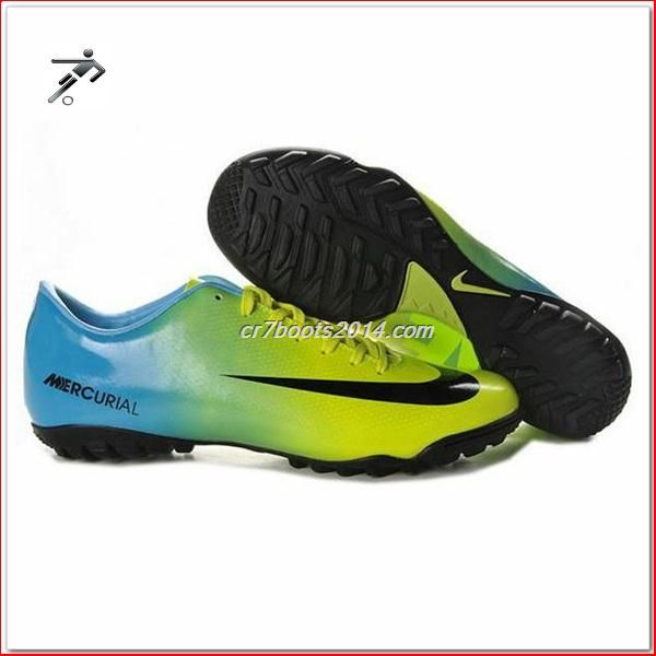 Cr7 Mens Astro Turf Trainers Blue Green Black