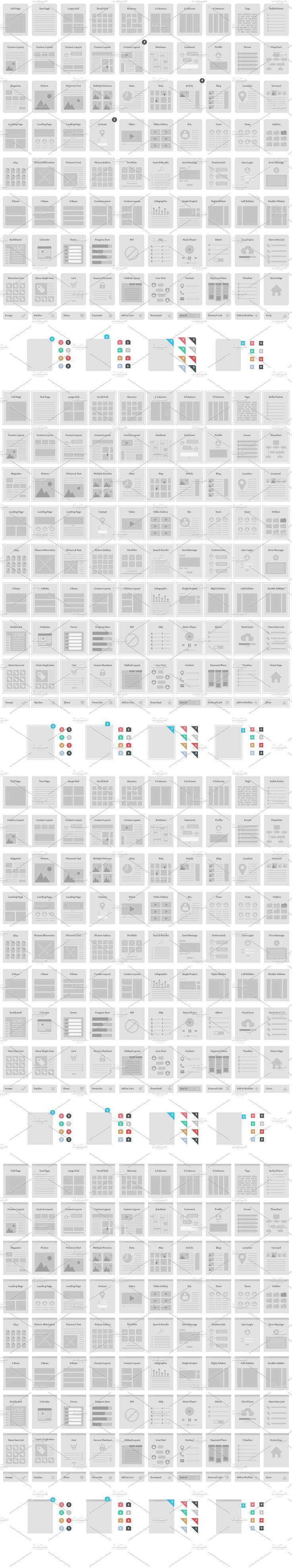 Website Wireframe Kit by Tugcu Design Co. on @creativemarket