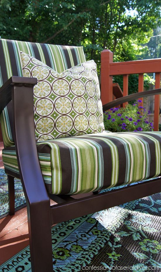 Nice Update Your Outdoor Cushion Covers With This SEW SUPER EASY Cushion Cover  Tutorial From Confessions Of