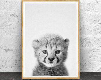 Lion Cub Print Baby Wall Art Decor van de kwekerij door LILAxLOLA