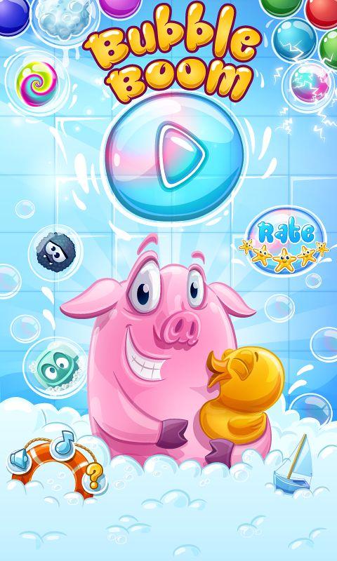 Bubble Boom - Art for Mobile Game by Vera Vakrat, via Behance