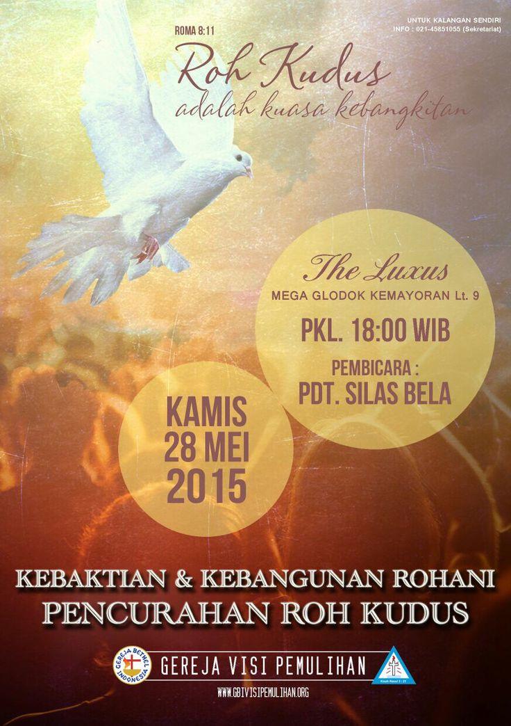 KKR Pencurahan Roh Kudus 28 May 2015