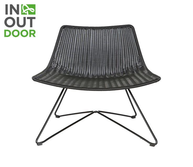 WOOOD Otis (binnen-buiten) fauteuil zwart - Zwart