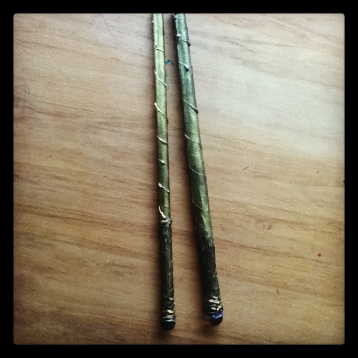 Attempt at Harry Potter wands.... Most fun u can have with a glue gun :)