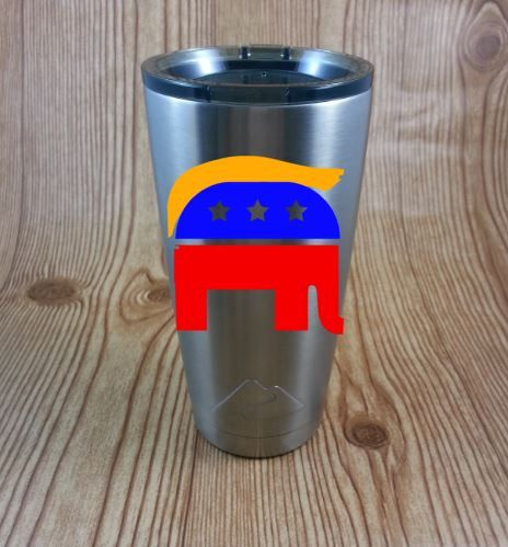 Donald Trump Make America Great Again Stainless Steel Coffee Mug Election 2016  Republican Elephant Trump Hair V5 by NatureFamilyLife on Etsy