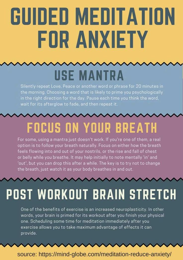 Guided meditation for anxiety and stress: 3 techniques.