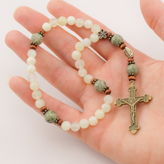 Anglican Prayer Beads Easter Gift New Jade by UnspokenElements on Etsy