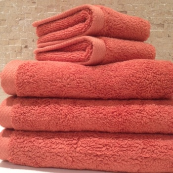 Best Towels Images On Pinterest Bath Towels Bathroom Ideas - Coral color bathroom rugs for bathroom decorating ideas