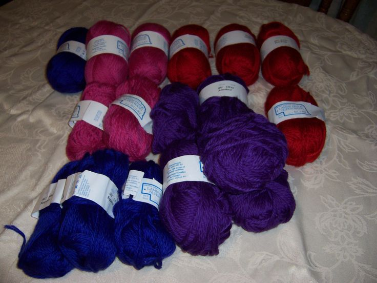Some of the yarn in my stash.