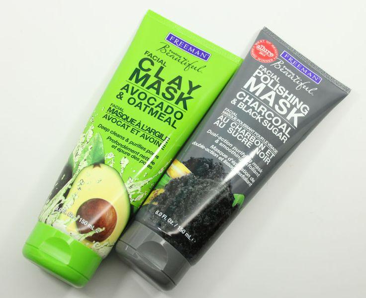 Freeman Facial Clay Mask Avocado & Oatmeal and Facial Polishing Mask Charcoal & Black Sugar
