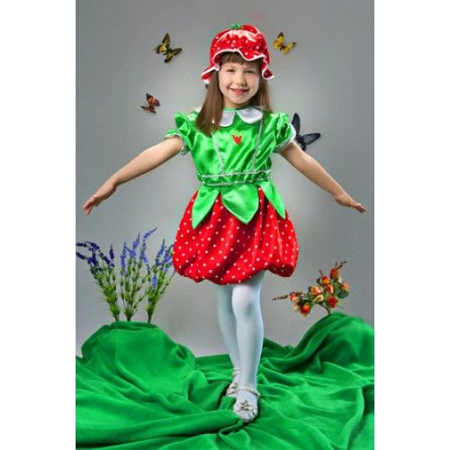 Карнавальный костюм для девочки клубника