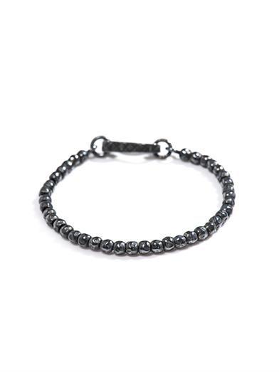 Intrecciato oxidised silver bracelet   #BottegaVeneta