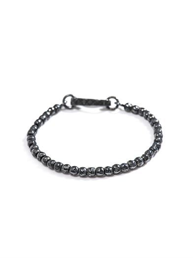 Intrecciato oxidised silver bracelet | #BottegaVeneta