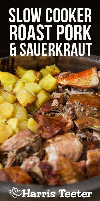 Harris Teeter - Slow Cooker Pork Roast, Potatoes and Sauerkraut Dinner