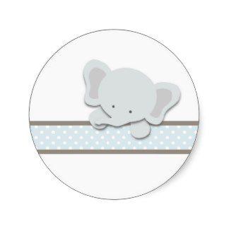 Etiquetas pequenas do elefante | {azul} adesivo