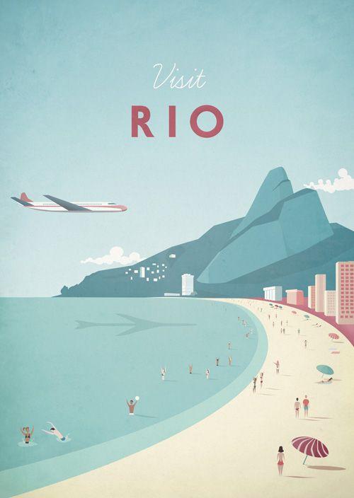 Rio Poster de viagens | TRAVEL POSTER Co.