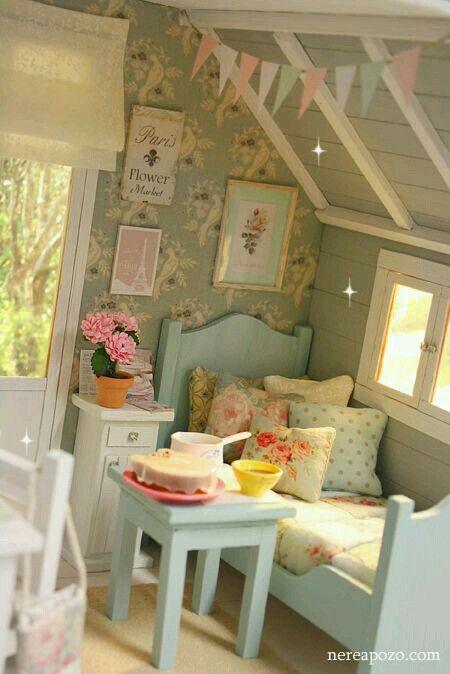 Sweet dollhouse attic