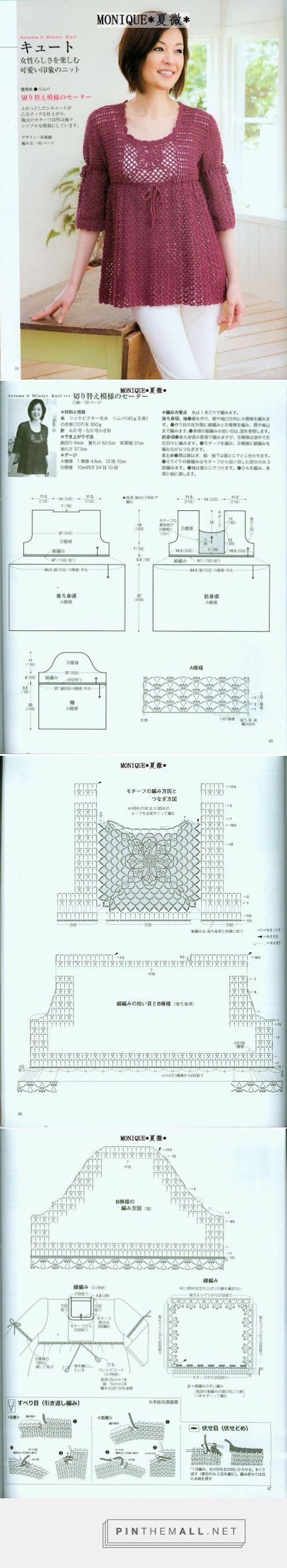 Croche Trico - Gráficos: Bata em croche ... - a immagini raggruppate foto - Pin Them All