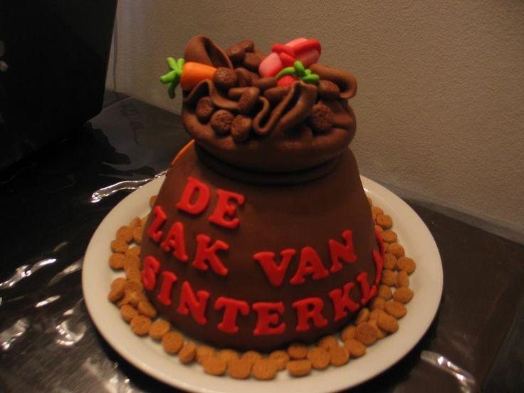 De zak van Sinterklaas taart