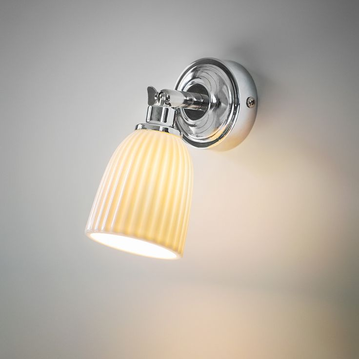 Illuminate your bathroom with this Alma Bathroom Spotlight from Garden Trading. Its beautiful, textured ceramic shade emits a warming glow once lit and reflects off the highly polished base. Its head