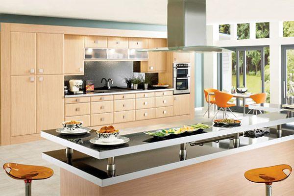 Nhà bếp sang trọng với máy hút mùi Bosch