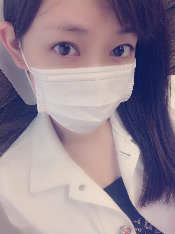 she's so cute when use the mask :v #渡辺美優紀