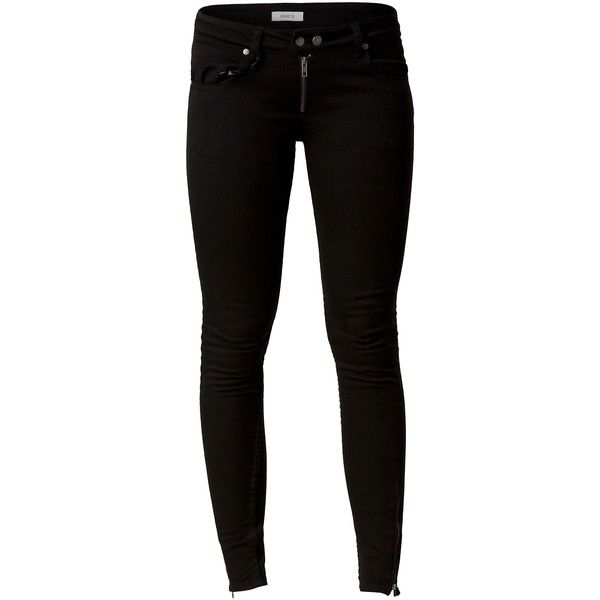 Issue 1.3 Capuchine Jeans ($32) ❤ liked on Polyvore featuring jeans, pants, bottoms, pantalones, calças, svart denim, womens-fashion, black jeans, low cut jeans and button fly jeans