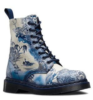 Core Pascal 8-Eye Boot (GBP125) from the new (2015) Willow Print Collection | Official Dr Martens Store - UK