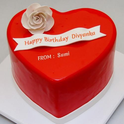 Heart Shaped Cake With Name Image : 35 best images about Divyanka Tripathi on Pinterest ...