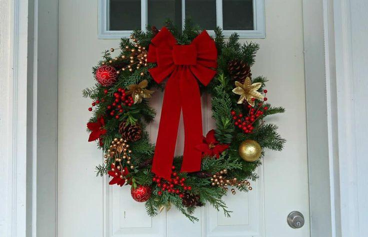 how to make homemade christmas wreath Christmas wreath diy