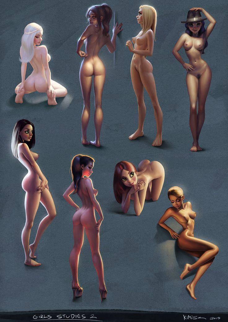 Girls Studies 02, Felipe Kimio on ArtStation at https://www.artstation.com/artwork/girls-studies-02