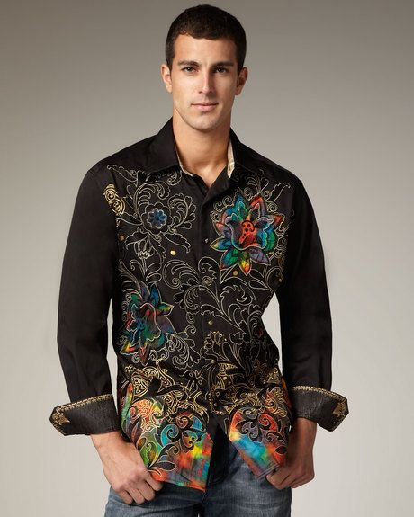 Robert Graham Hewitt Sport Shirt in Black for Men - Lyst