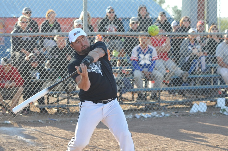 Swing hard and launch one! Demo of the Claymore softball bat by jak'd at the NSA Canadian Co-Ed World Series 2012 in Calgary