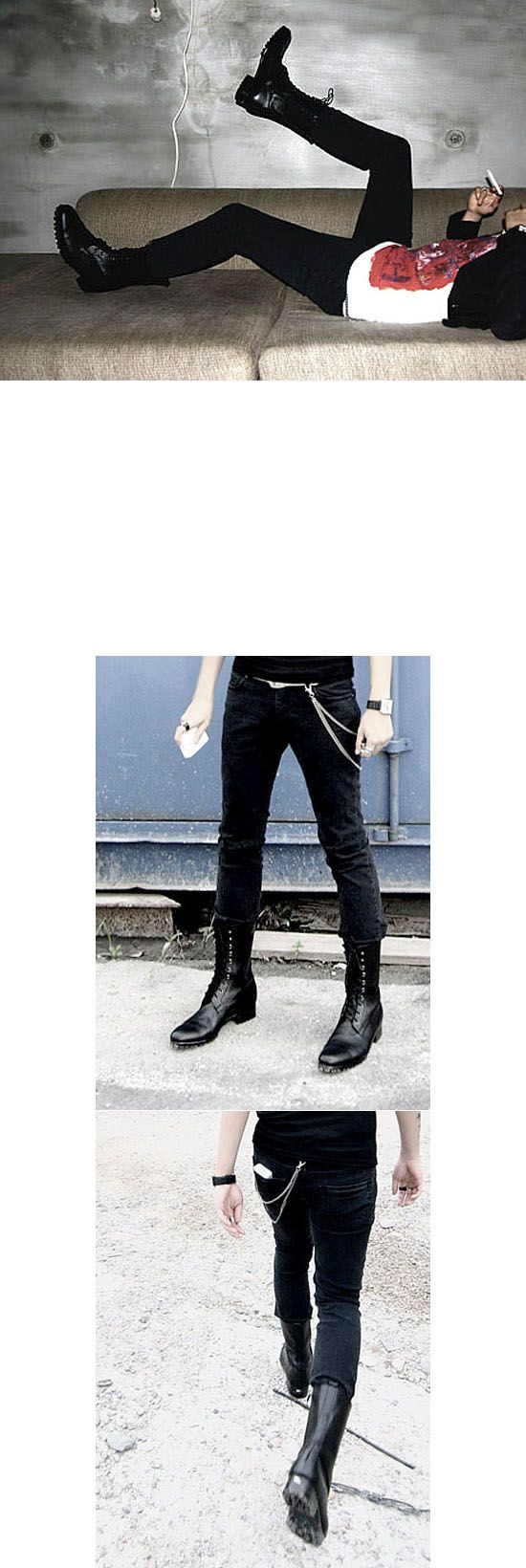 Shoes :: Runway Paratrooper Boots-Shoes 45 - Mens Fashion Clothing For An Attractive Guy Look