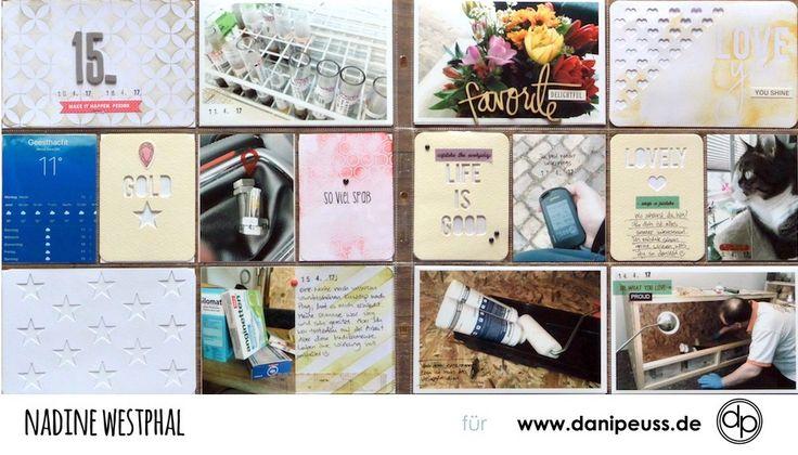 Wunderschöne Seite mit dem Dezember Project Life Kit | von Nadine Westphal für www.danipeuss.de | #danipeuss #scrapbooking #projectlife #bastelnmitpapier