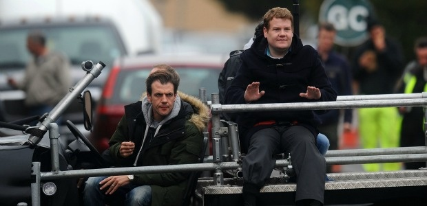 Pictures: James Cordon snapped filming Paul Potts biopic in Port Talbot